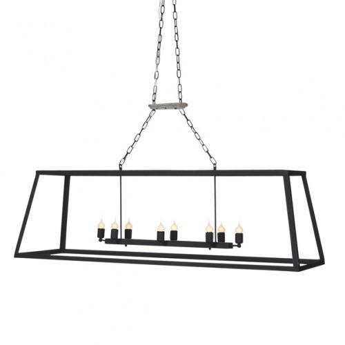 Black Iron Rectangle Lantern - Sarah Virginia Home