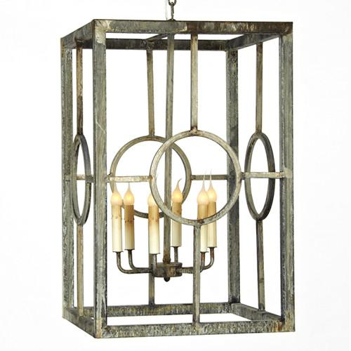 Circle Pane Lantern - Sarah Virginia Home
