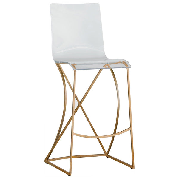 Andrea Stool-Gold - Sarah Virginia Home