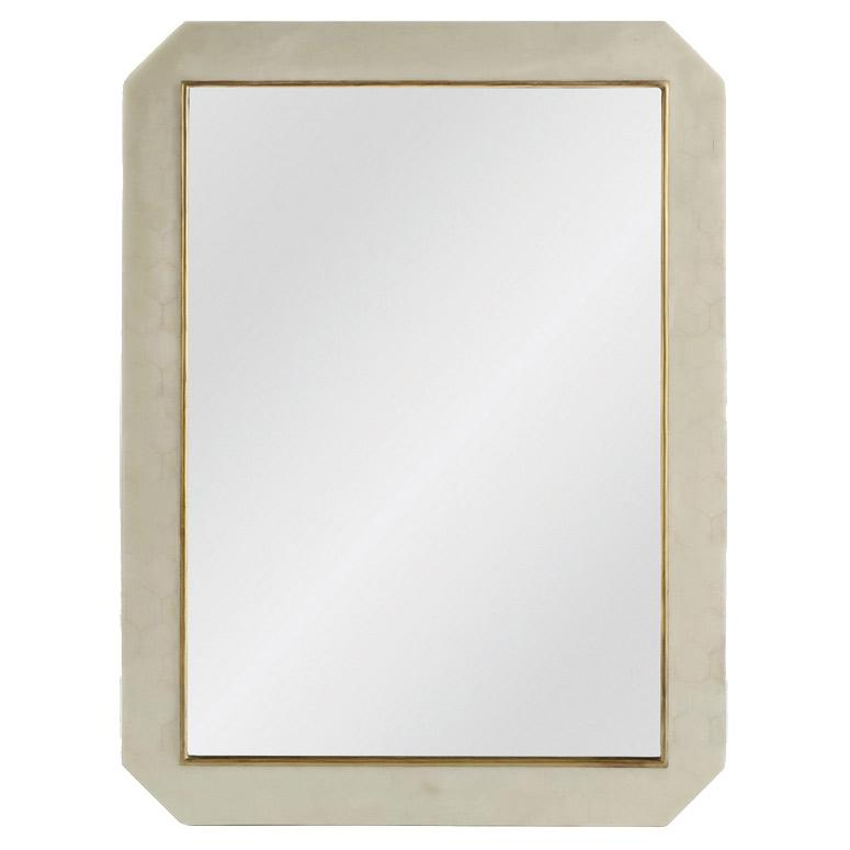 Hexagon Bone Mirror - Sarah Virginia Home