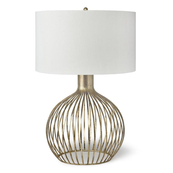 Abbey Table Lamp- Antique Gold Leaf - Sarah Virginia Home