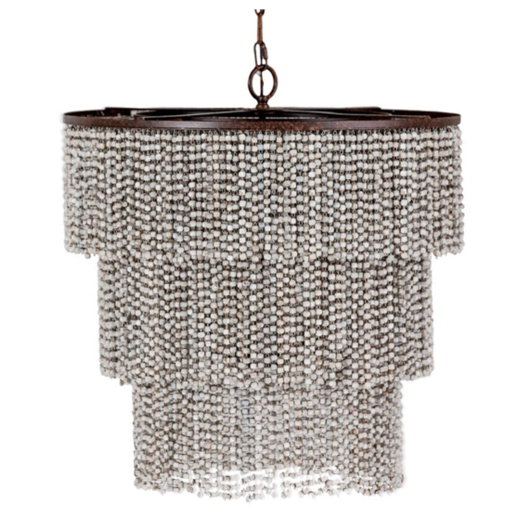 Isabella 3 Tier Beaded Chandelier - Sarah Virginia Home