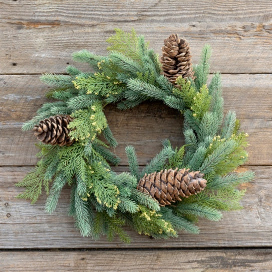 "Evergreen Wreath (24"") - Sarah Virginia Home"