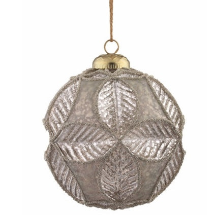 Embossed Leaf Ornaments (Set of 6) - Sarah Virginia Home