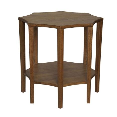 Scalloped Walnut Side Table - Sarah Virginia Home