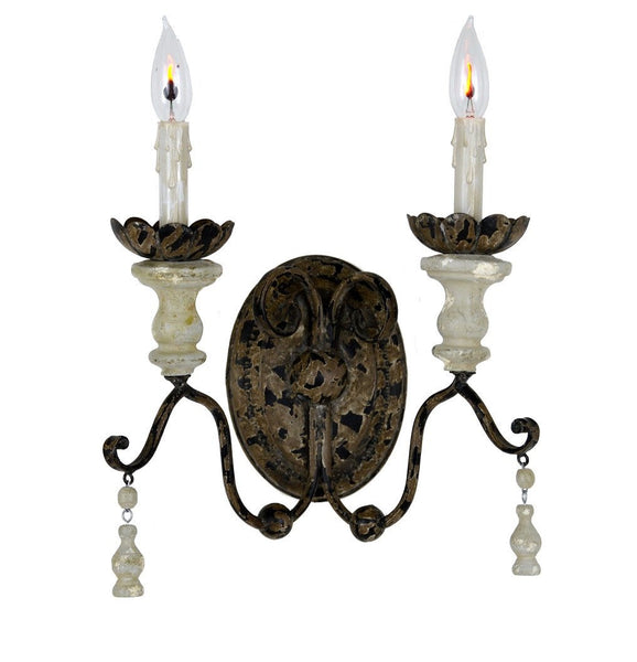 Distressed Double Sconce - Sarah Virginia Home