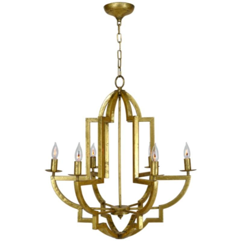 Lily Chandelier (Gold) - Sarah Virginia Home