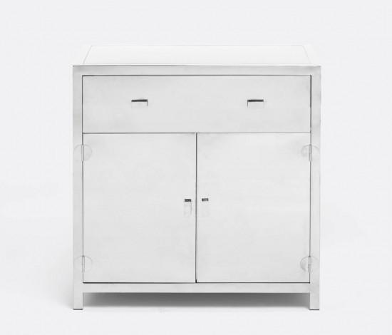 Kane Steel Nightstand (Double) - Sarah Virginia Home