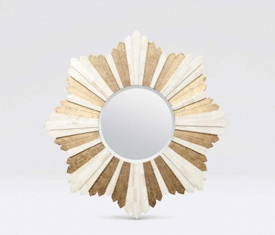 Marlow Starburst Mirror (Bone/Brass) - Sarah Virginia Home - 1