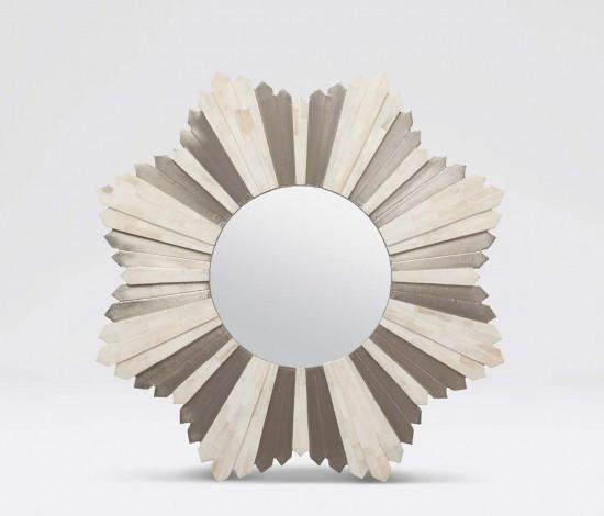Marlow Starburst Mirror (Bone/Silver) - Sarah Virginia Home - 1
