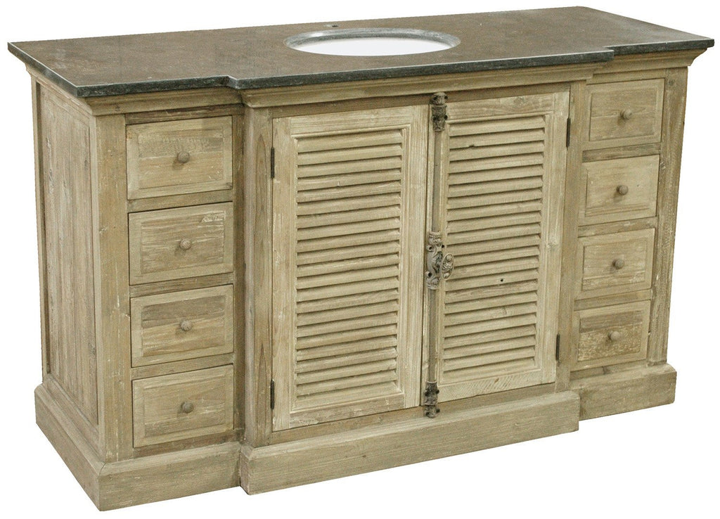Reclaimed Breakfront Vanity - Sarah Virginia Home