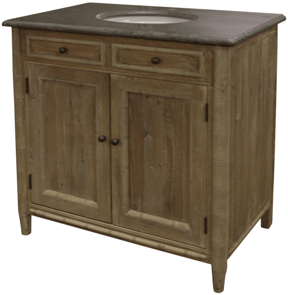 Bamboo Detail Bathroom Vanity - Sarah Virginia Home