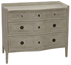 Graywash chest with mirrored top - Sarah Virginia Home