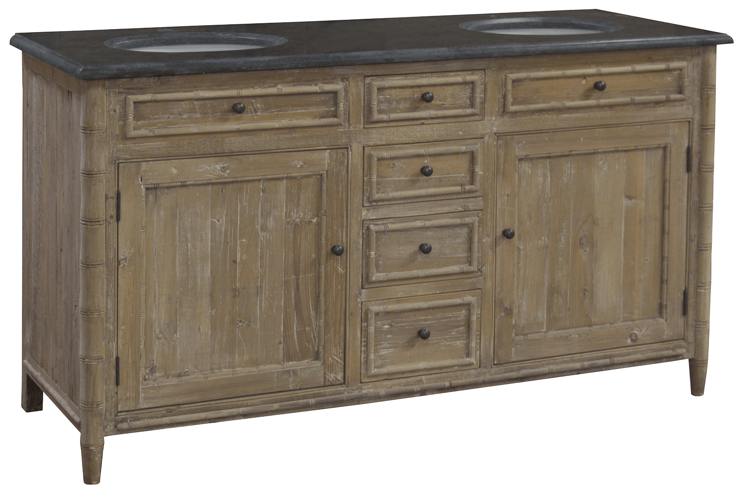Bamboo Bathroom Vanities double bamboo detail bathroom vanity – sarah virginia home