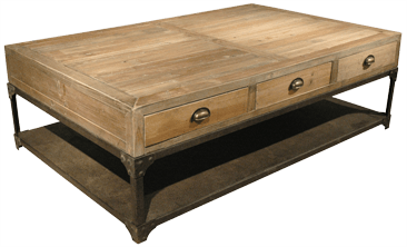 Rustic Industrial coffee table - Sarah Virginia Home