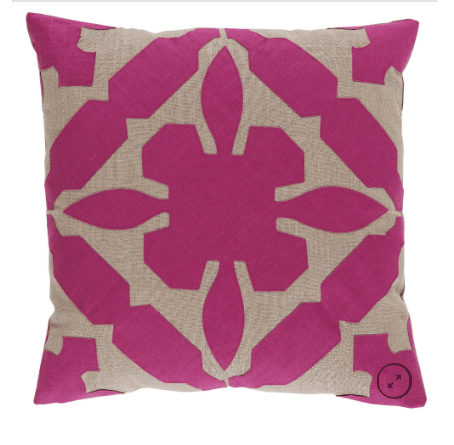 Cora Pillow (Raspberry) -