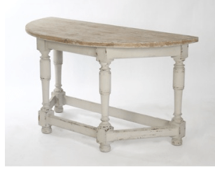 Allison Demi-Lune Console - Sarah Virginia Home