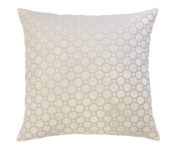 Off White Velvet Geo Pillow -