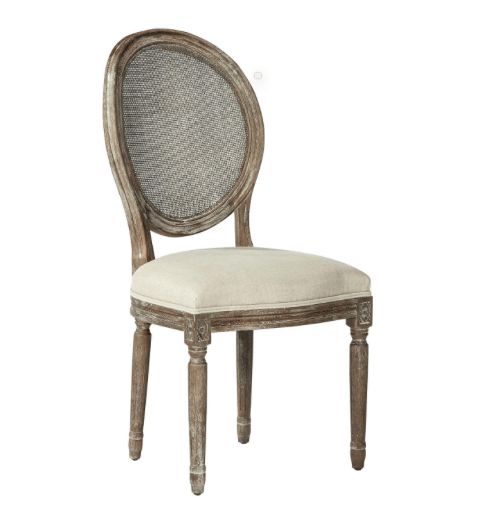 Caned Upholstered Dining Chair - Sarah Virginia Home