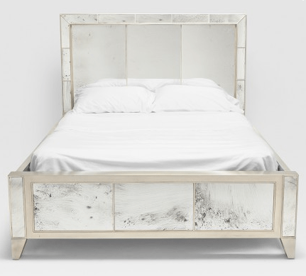 mia mirrored bed frame sarah virginia home 2 - Mirrored Bed Frame