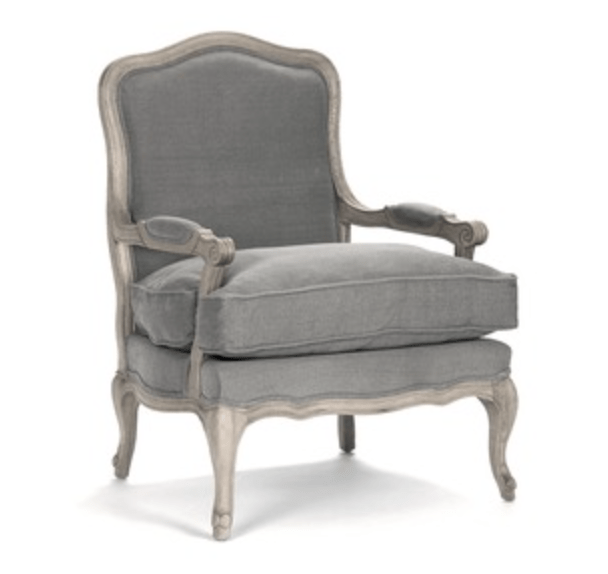 French Gray Bergere Chair - Sarah Virginia Home