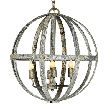Iron Orb Chandelier - Sarah Virginia Home