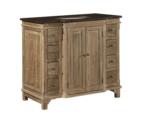 Breakfront Reclaimed Pine Vanity - Sarah Virginia Home