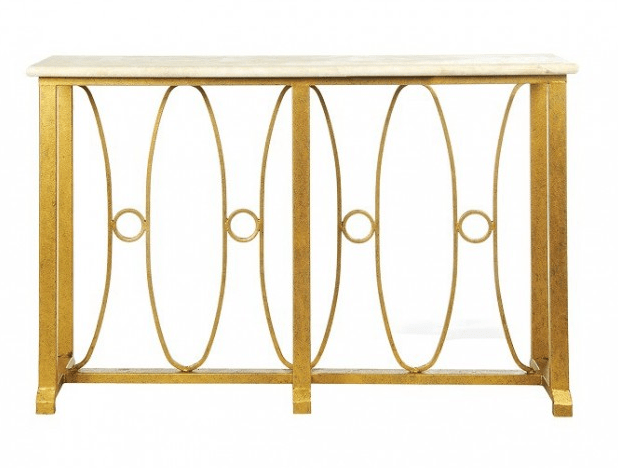Gilded Iron Console - Sarah Virginia Home