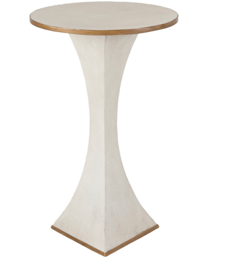 Shagreen and Gold Drinking Table - Sarah Virginia Home