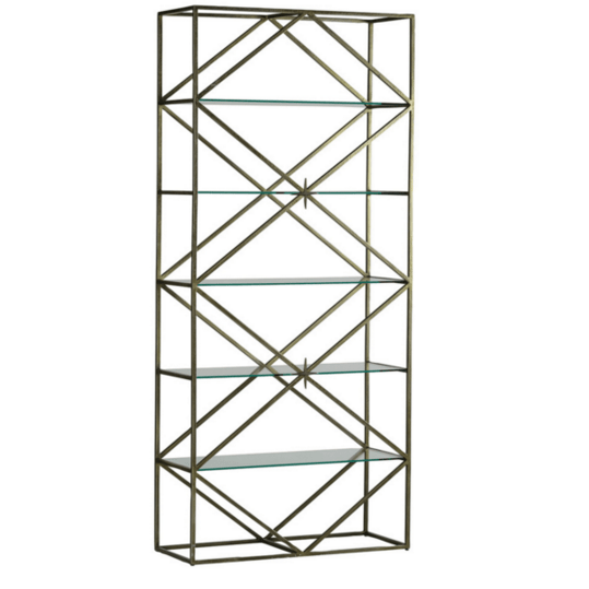 Antique Brass and Star Etagere - Sarah Virginia Home