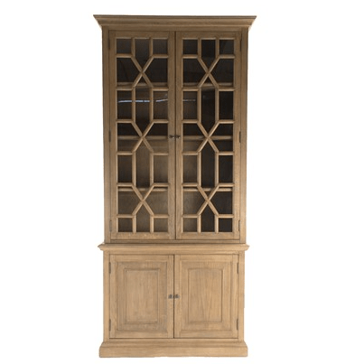 Geometric Fretwork Cabinet - Sarah Virginia Home
