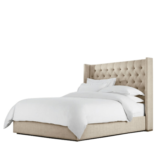 Tufted Linen Bed (Buff) - Sarah Virginia Home