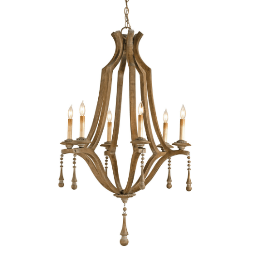 Graywash Simplicity Chandelier - Sarah Virginia Home