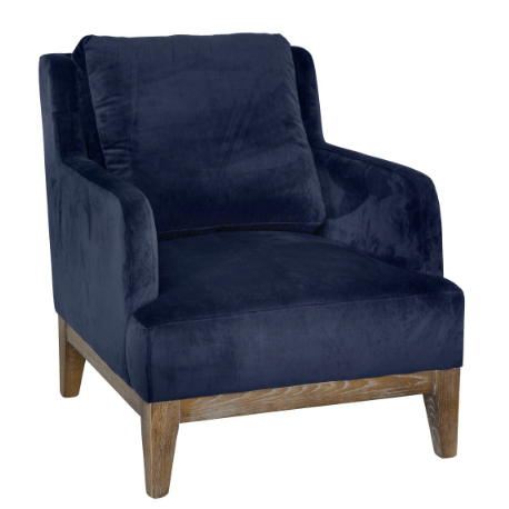 Stella Club Chair (Navy) - Sarah Virginia Home
