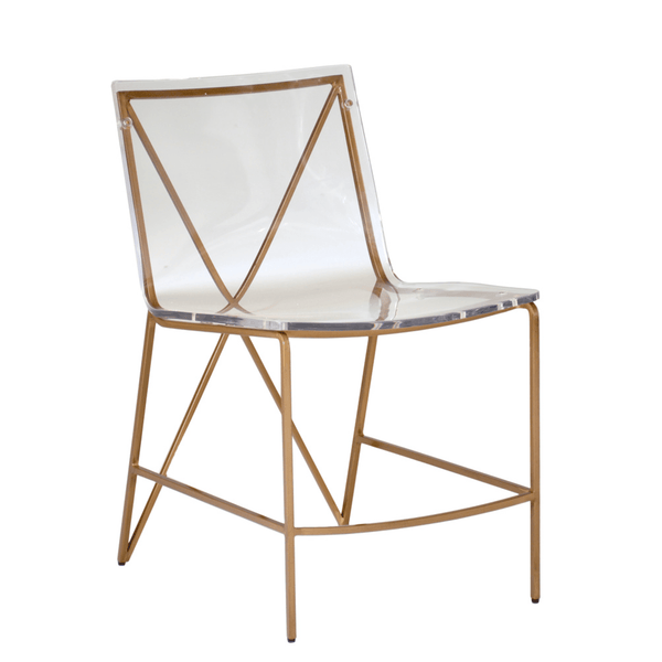 Andrea Dining Chair-Gold
