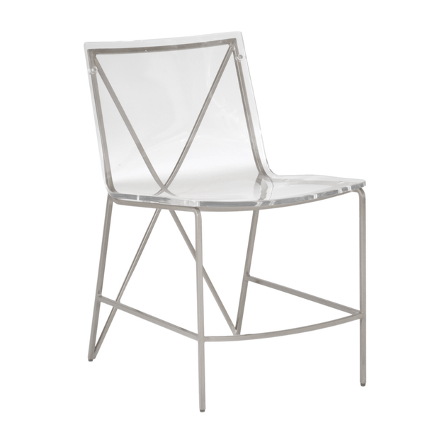 Andrea Dining Chair-Silver