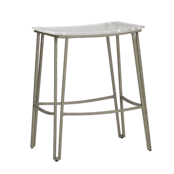 Brosnan Counter Stool (Silver) - Sarah Virginia Home