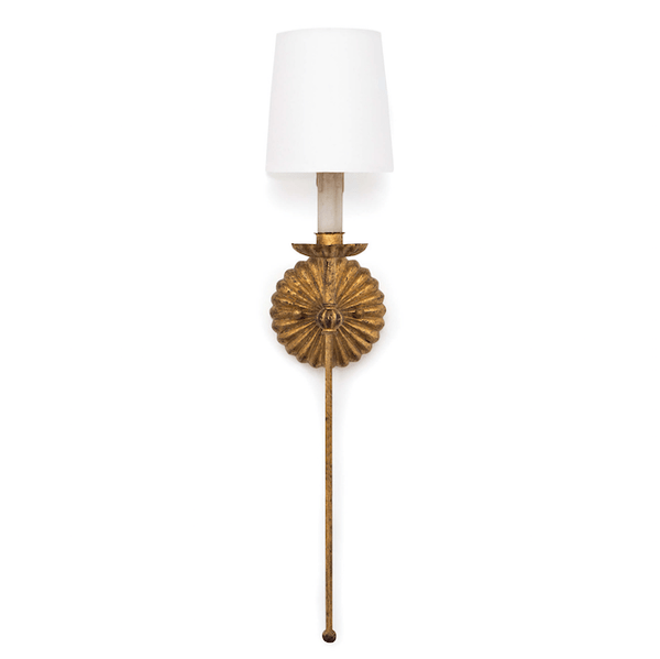Antique Gold Leaf Burst Sconce - Sarah Virginia Home