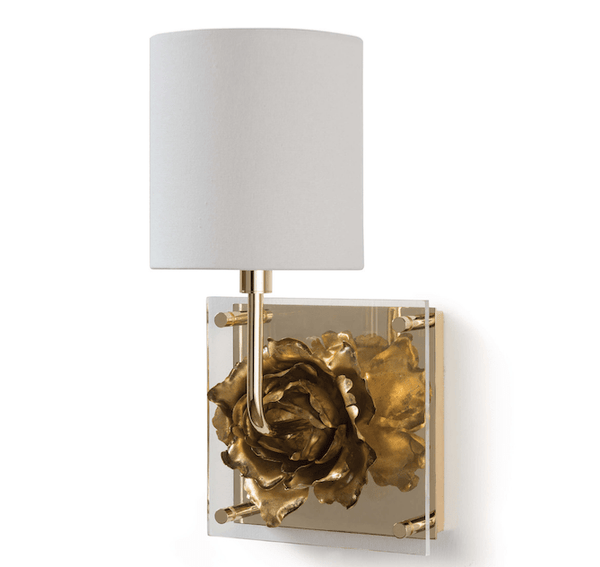 Golden Fiore Sconce - Sarah Virginia Home