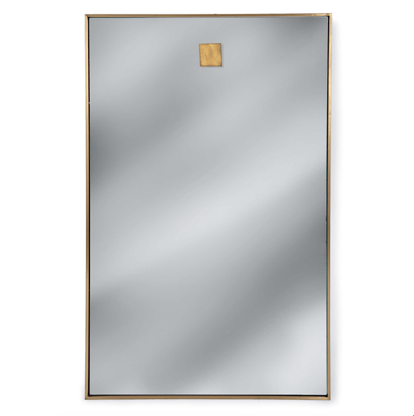 Hanging Rectangle Mirror (Natural Brass) - Sarah Virginia Home