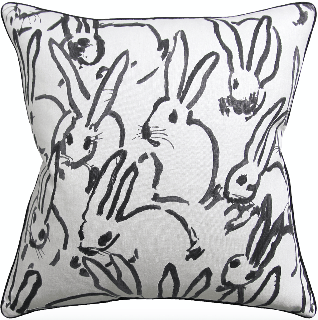 Le Lapin Pillow (Black) - Sarah Virginia Home