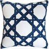 Bamboo Stack Pillow (Navy) - Sarah Virginia Home