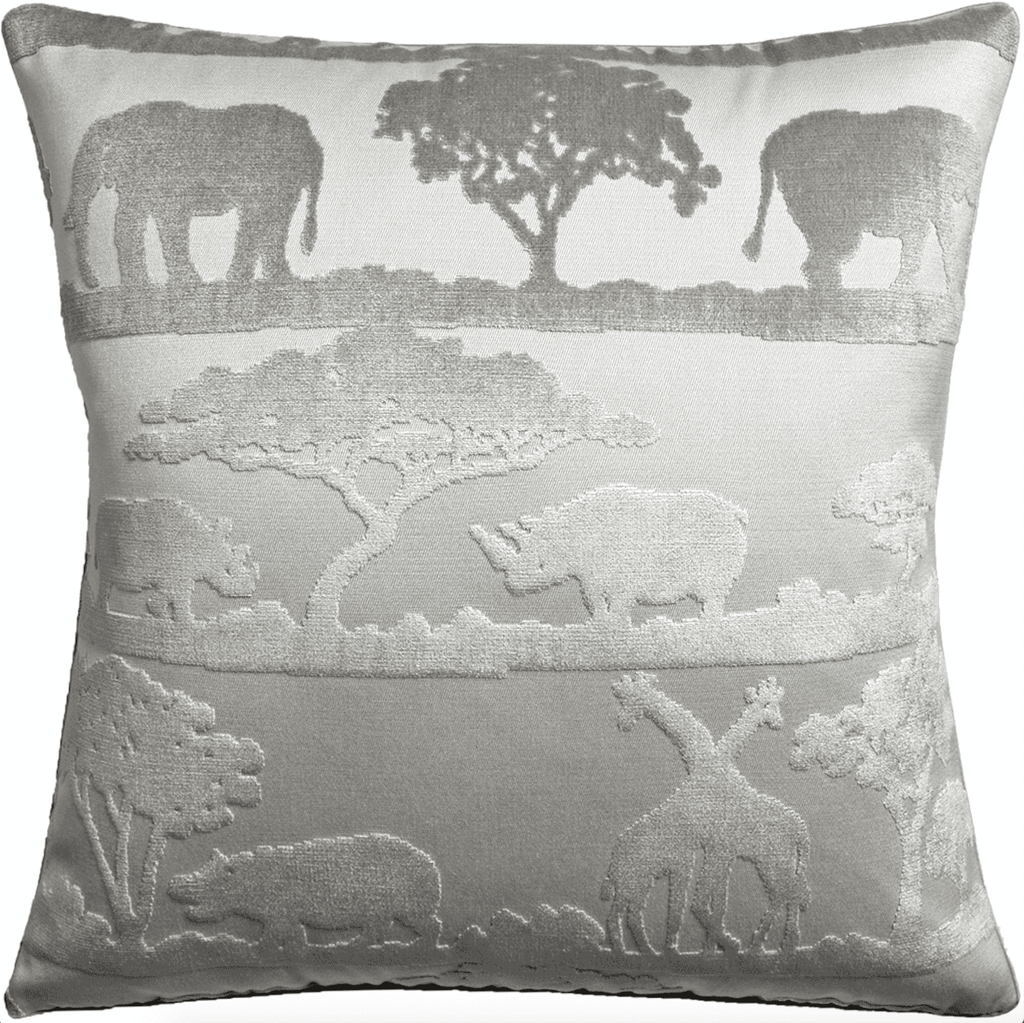 Velvet Safari Pillow (Taupe) - Sarah Virginia Home