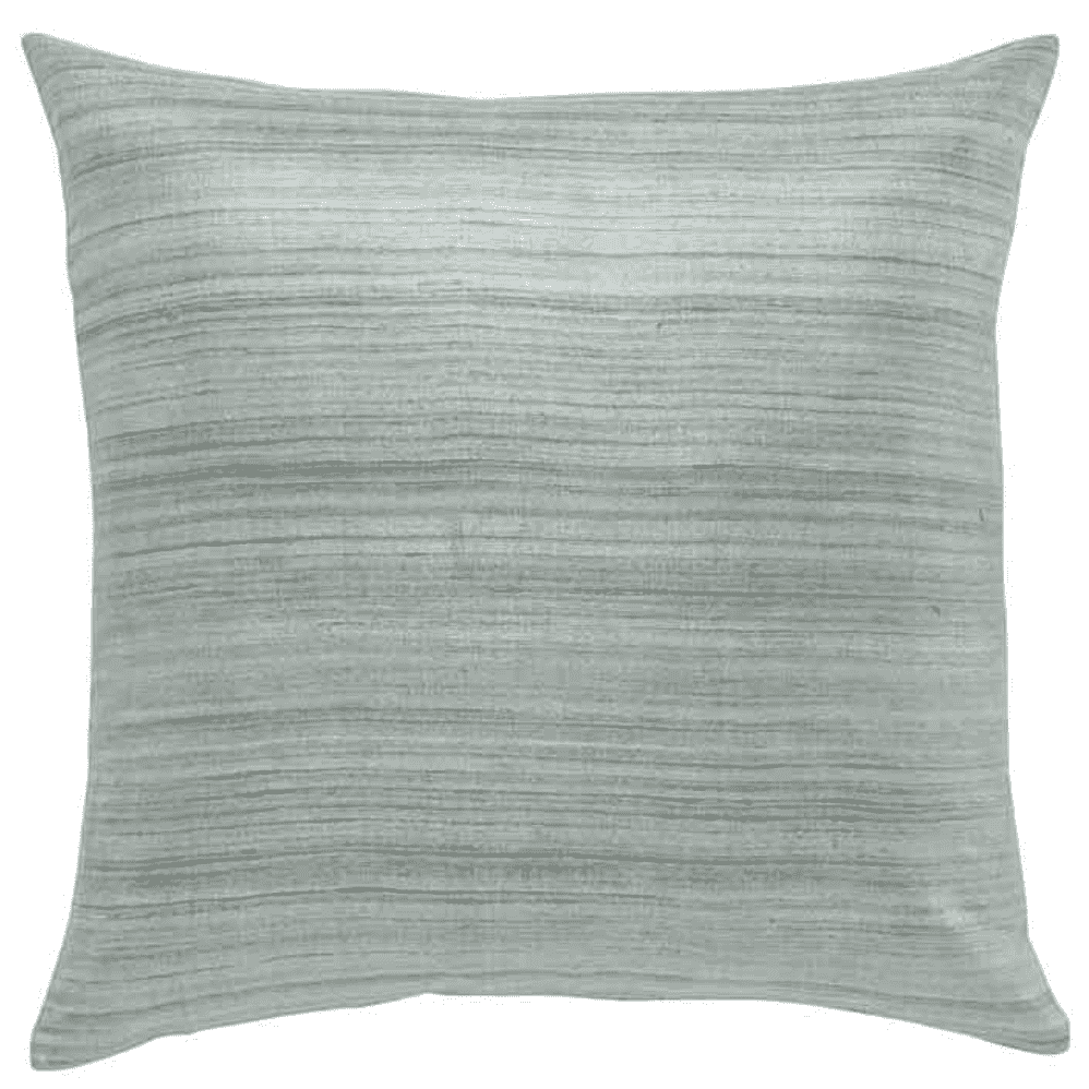 "Mariana raw silk pillow - slate gray down filled pillow - 22""x22"" throw pillow"