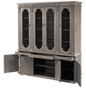 Ashburne Cabinet - Grey China cabinet with steel mesh - sarah virginia home