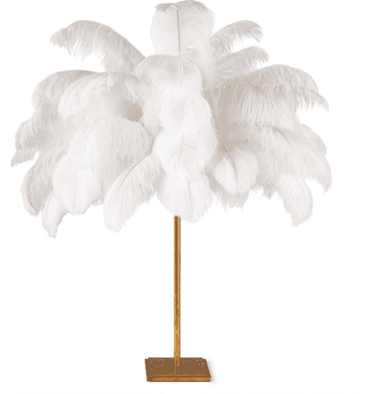 Josehine Feather Table Lamp - Sarah Virginia Home