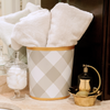 Buffalo Check Wastebasket - Sarah Virginia Home