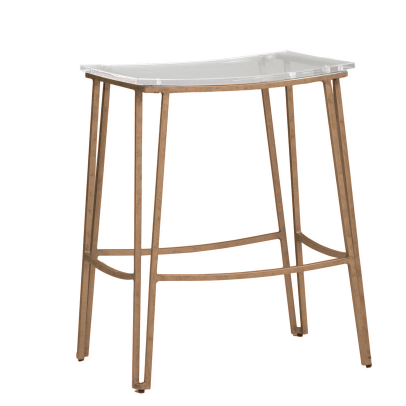 Brosnan Counter Stool (Gold) - Sarah Virginia Home