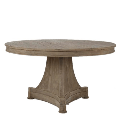 Transitional Pedestal Table - Sarah Virginia Home