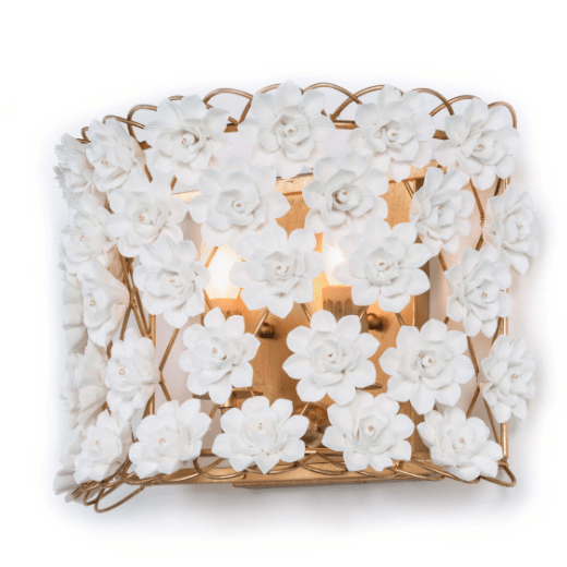 Porcelain Flower Sconce - Sarah Virginia Home